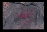 Image from rock painting site. Site of Besomfontein 1, Western Cape, South Africa.