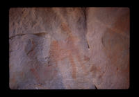 Image from rock painting site. Site of Bosluiskloof 1, Western Cape, South Africa.