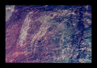 Image from rock painting site. Site of Huisrivierpass, near Calitzdorp, South Africa.