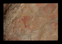 Image from rock painting site. Site of Vermaaksrivier 1, Oudtshoorn, South Africa.