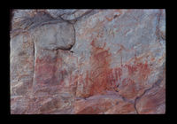 Image from rock painting site. Site of Ruiterbosch 2, Hartenbos, Western Cape, South Africa.