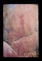 Image from rock painting site. Site of Amferkloof 1,  Herolds Bay, near George, Western Cape South Africa.