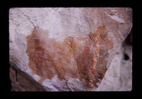 Image from rock painting site. Site of Rondable 124, 1, Prince Albert, Western Cape, South Africa.