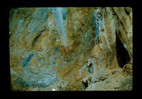 Image from rock painting site. Site of Nooitgedacht 1, Oudtshoorn, Western Cape, South Africa.