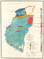 Geological map of the M'kushi-Lunsemfwa area, Northern Rhodesia