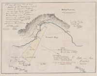Sketch of Simons Bay shewing position of batteries &c., to accompany report of Board of Officers assembled 26 & 27 Janry 1865