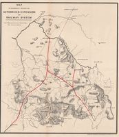 Map to accompany report on authorized extension of railway system
