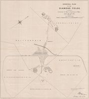 General plan of the diamond fields, to illustrate the Report of the Surveyor of Mines dated Feby. 28th 1883