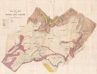 Sketch map of the Indwe coal fields