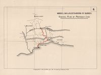 Mossel Bay & Oudtshoorn rly. survey : general plan of proposed line