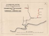 C.G.R. midland system : general plan of proposed line from Grahamstown to Fort Beaufort and from Cookhouse to Somerset East