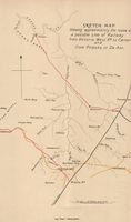 Sketch map shewing approximately the route of a possible line of railway from Victoria West Rd. to Carnarvon and from Prieska to De Aar