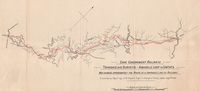 Cape Government Railways Transkeian surveys : Amabele Loop to Umtata : map showing approximately the route of a proposed line of railway to accompany report by A. M. Tippett, Engr in charge of survey, dated Aug. 2nd 1899