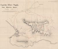 Cape Town water supply : Table Mountain survey : general plan. Drawing No. 1 accompanying Hydraulic Engineer's report for 1881
