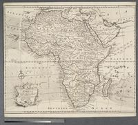 A new and correct map of Africa. Drawn from the most approved modern maps and charts, and adjusted by astronomical observations representing also the course of the Trade Winds, Monsoons & c