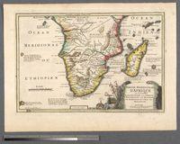 Partie Meridionale D'Afrique ou se trouvent La Basse Guinee, La Cafrerie, Le Monomotapa, Le Monoemugi, Le Zanguebar et L'Isle de Madagascar