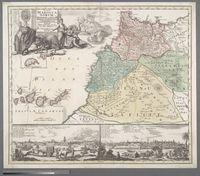 Stauum Maroccanorum, Regnorum nempe Fessani, Maroccani, Tafiletani et Segelomessani Secundum suas Provincias accurate divisorum typus Generalis Novus