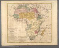 Charte von Africa nach astronomischen Beobachtungen, auch alten und neuen Nachrichten, ingleichen den Charten von Sayer, Rennel, Arrowsmit