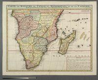 Carte du Royaume de Congo, du Monomotapa et de la Cafrerie, Dressee sur les Memoires les plus exacts et les observations les plus Nouvelles