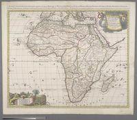 L'Afrique divisee suivant l'estendue de ses principales parties, ou sont distinque's les uns des autres, les Empires, Monarchies, Royaumes, Estats et Peuples qui partagent aujourd'hui L'Afrique sur les relations les plus nouvelles