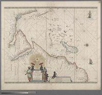 Pascaerte van't Westelycke Deel van Oost Indien, van Cabo de Bona Esperanca tot C. Comorin