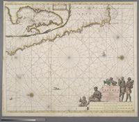Pascaert van de Costa de Caffres Tusschen Cabo Negro en Cabo de bonae Esperanca