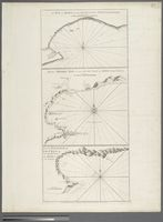 The Bay of Algoa on the South Coast of Africa; Plan of Mossel Bay on the South Coast of Africa; Plan of Flesh Bay or Bay St. Bras on the South Coast of Africa; from van Keulen