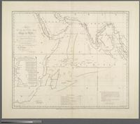 To the King's most Excellent Majestry George the Third; This chart, wtih the comparative Tracks of Ships in the different Monsoons; showing the Connection distances by sea between the principle harbours and settlements in the East Indies; is with per