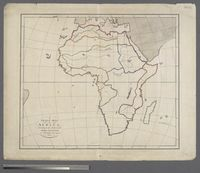 A Plain Map of Africa According to the Method of the Abbé Gaultier by Mr Wauthur his pupil