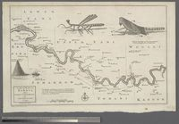 (1) A Map of the River Gambia from its Mouth to Eropina by Capt. John Leach in 1732 -- (2) ... Gambia from Eropina to Barra Kunda ... 1732