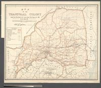 Map of the Transvaal Colony Compiled from the Official Records in the Surveyor General's Office Pretoria, 1902-05