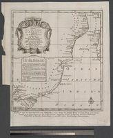 Carte de la Coste Orientale d'Afrique depuis le Cap de Bonne Esperance jusqu'au Cap de Gada ... 1740 ... Maurepas