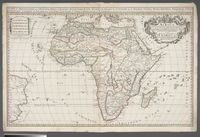Africa divided according to the extent of its Principall Parts in which are distinquished one from the other Empires, Monarchies, Kingdoms, States and Peoples which at this time inhabite Africa