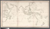 A chart of the Indian Ocean improved from the chart of M. d'Apres de Mannevillette; with the addition of a part of the Pacific Ocean, as well as of the original tracks of the principal discoverers or other navigators to India and China; and in which