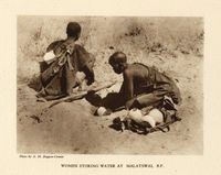Women storing water at Malatswai, B.P.