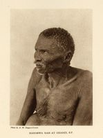 Manarwa man at Ghanzi, B.P.
