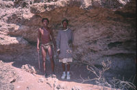 Jakob Malgas and Lena Malgas at the limestone grottoes at Witdraai