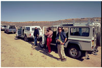 Researchers inside Kgalagadi Transfrontier Park