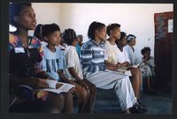 Learners at a N|uu language class