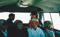 Members of the San community accompanying researchers into the Kgalagadi Transfrontier Park