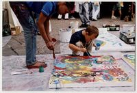 Trish Lovemore painting in Vienna