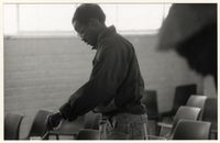 Mandla Vanyaza at Visual Arts Group workshop, Zolani Centre, 1992