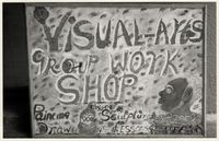 Visual Arts Group workshop sign, Zolani Centre