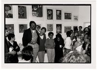 Lionel Davis at an exhibition at the Community Arts Project.