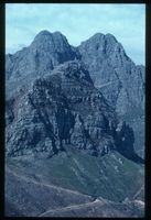Jonkershoek Twins and Square Tower Peak from Botmanskop