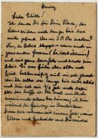 Memo concerning a letter from Fritz Loeb to Edith Bruch, undated
