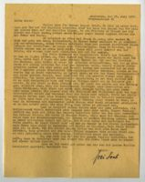 Letter from Frau Loeb, Amsterdam, to Edith Bruch (?), Germany, 1936