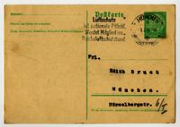 Postcard from (first name unknown) Levy, München (Munich), Germany, to Edith Bruch, München (Munich), Germany, 1936