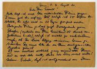 Letter from Margarete (last name illegible), possibly in Bonn, to Frau Sorell, 1940
