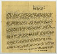 Letter from Ruth Lindner, London, to Mrs Roy Sorell, Long Street, Cape Town, South Africa, 1940
